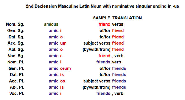 1 pring Latin grammar using Amica exple
