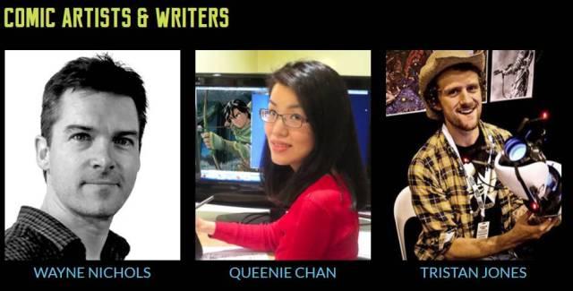 3 writers