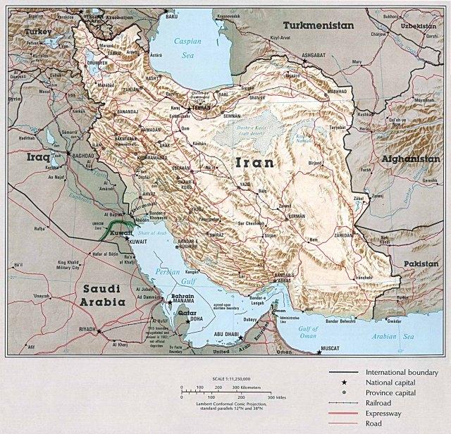 iran topography